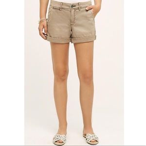 Anthropologie Pilcro Hyphen Khaki Chino Shorts 27